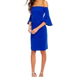 LAUNDRY BY SHELLI SEGAL OFF THE SHOULDER DRESS